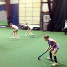 reverse stick drills during U10 instructional clinic