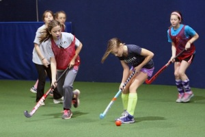 Cape Cod Youth Field Hockey on the turf - U12 group