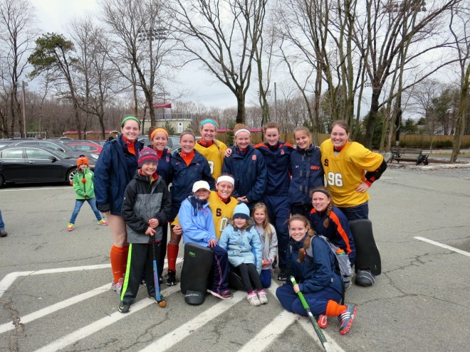 CCYFH got to meet and watch Syracuse University Field Hockey