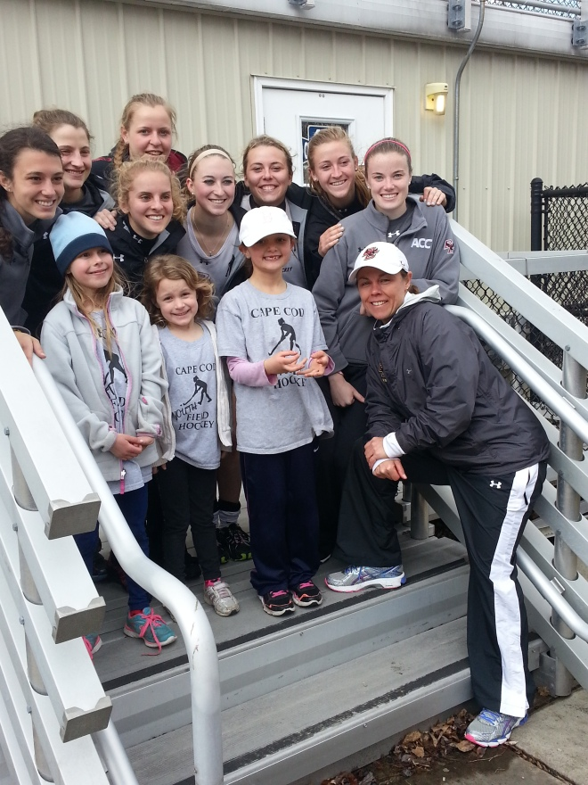 CCYFH with the Boston College Field Hockey team
